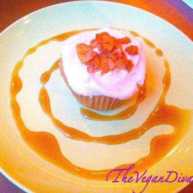 Butterscotch Cupcake w/Coconut Bacon